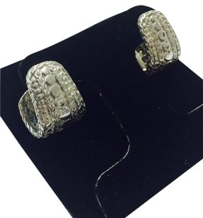 John Hardy REDUCED! JOHN HARDY STERLING HUGGIE PIERCED DOT COLLECTION EARRINGS