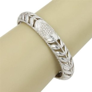 John Hardy John Hardy Sterling Silver Kawung Floral Bangle With Diamonds -
