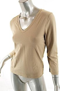 John Patrick Pima Cotton Stretch Top Oatmeal