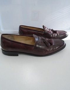 Johnston And Murphy Chocolate Brown Leather Loafer Shoes W Tassels B3461