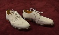 Johnston Murphy Brennan White Wing Tip Oxfords Shoes 20-7930