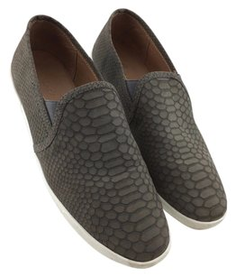 Joie Snake Print Suede Gray Athletic