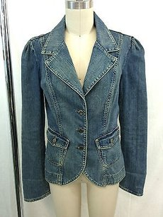 Joie Denim Three Button Blue Jacket