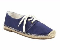 Joie Hemlock Canvas Casual Lace Up 140069f Navy Flats