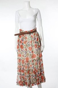 JOIE Strapless Dress Hip Hippie Maxi Skirt Orange floral