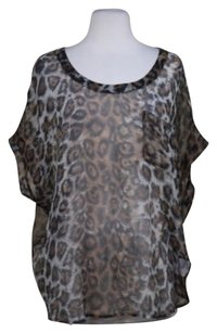 Joie Womens Animal Top Brown