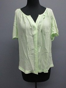 Joie Silk Ruched Top mint green