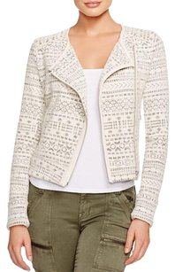 Joie Tweed Moto Cropped Motorcycle Jacket