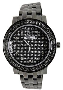 JoJino Ladies Jojojojinojoe Rodeo Genuine Real Black Diamond Watch Mj-1046b
