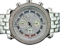 JoJino Mens Jojinojojojoe Rodeo Diamond Watch Metal Band Cursh Dial .25ct 46mm Mj1054
