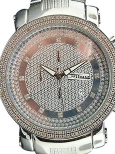 JoJino Mens Jojinojojojoe Rodeo Diamond Watch Shiny Dial .25 Ct Big Face 50mm Mj-1101