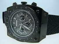 JoJino Mens Jojojojinojoe Rodeo Black 25 Diamond Watch Ij-1168