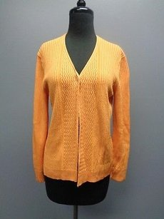Jones New York Ribbed Knit Stretchy One Button Cardigan Sm2857 Sweater
