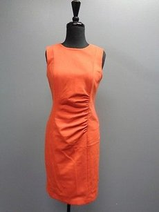 Jones New York Collection Sleeveless Ruched Sma8400 Dress