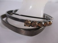 Joomi Lim Joomi Lim Antique Silver Crystal Bangle Bracelet Set Of