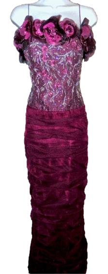 Jovani Purple Beaded