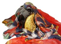 Judith Leiber Bonus: Silk Shawl And Patent Leather . Vintge Shoulder Bag