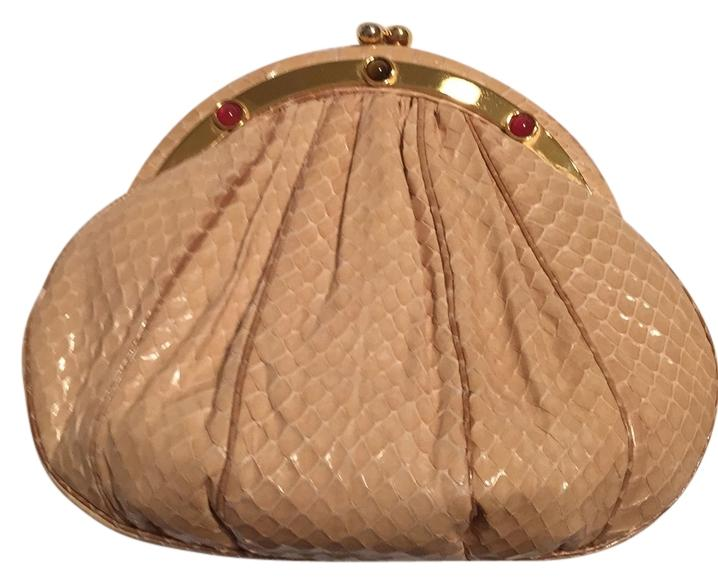 Judith Leiber Cream Snake Stone Evening Bag xKStuFkE