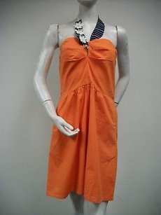 Judith March short dress Oranges Sweetheart Halter 100 Cotton Neck Strap on Tradesy