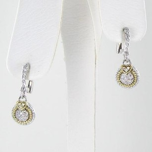 Judith Ripka Judith Ripka Pave Circle Earrings 0.16cts Diamonds 18k Yellow Gold 925