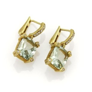 Judith Ripka Judith Ripka Prasiolite Diamonds Drop Dangle Earrings