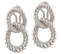 Judith Ripka Judith Ripka Sterling Curb Link Design Dangle Earrings