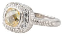Judith Ripka NEW! JUDITH RIPKA ST SILVER CANARY CRYSTAL WHITE SAPPHIRES ISABELLA RING