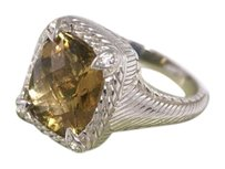 Judith Ripka SALE Judith Ripka Sterling Silver and Citrine Ring / Size 9 sizeable