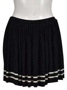 Juicy Couture Womens Striped Above Knee Casual Skirt Black, White
