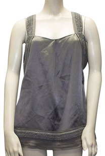 Juicy Couture Silk Sleeveless Blouse Nwd Hs689 Top Gray