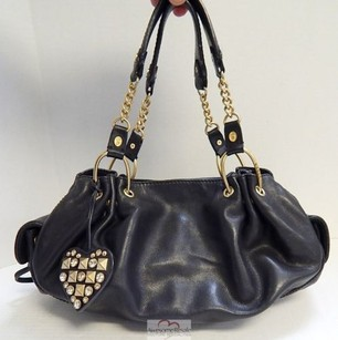 Juicy Couture Fluffy Leather Top Zip Chain Hobo Bag