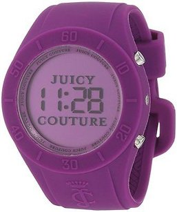 Juicy Couture Juicy Couture Digital Purple Silicone Ladies Watch 1900882