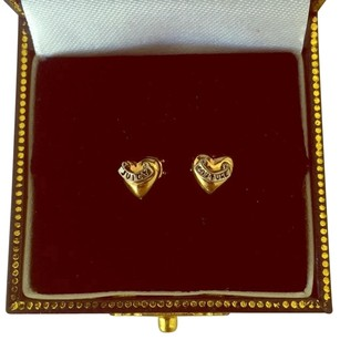 Juicy Couture Juicy Couture Gold Puffed Heart Stud Earrings