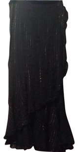 Juicy Couture Skirt Black With Gold Lines