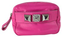Juicy Couture Soft Leather Bella Rhinestone Hot Pink Clutch