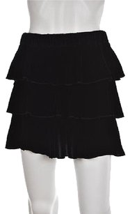Juicy Couture Petite Womens Velvet Tiered P Above Knee Casual Skirt Black