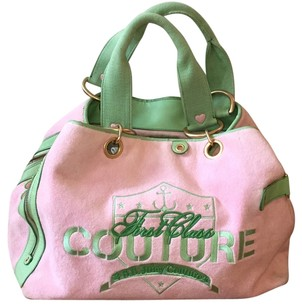 Juicy Couture Tote in Pink Green