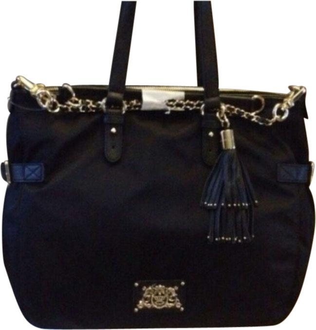 85%OFF Juicy Couture Malibu Nylon Zip Top Black Tote Bag - www ...