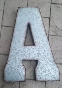 Jumbo X Large Metal Letters Zinc Letter Decor