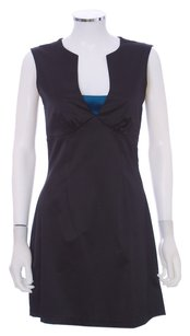 Karl Lagerfeld Satin Short Cut-out Sleeveless Dress