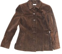 Kate Hill Petite Leather Suede Leather Jacket