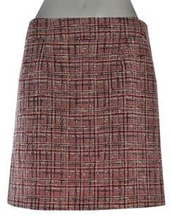Kate Spade Womens Tweed A Skirt Red