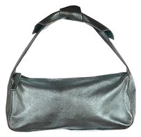 Kate Spade Womens Metallic Leather Handbag Baguette