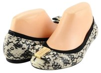 kate spade Tock Black Cream Snake Print Leather Womens Designer Ballet Multi-Color Flats