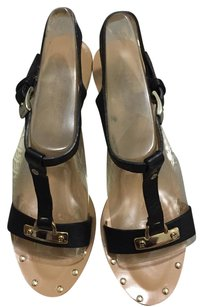 Kate Spade Black & Tan Wedges