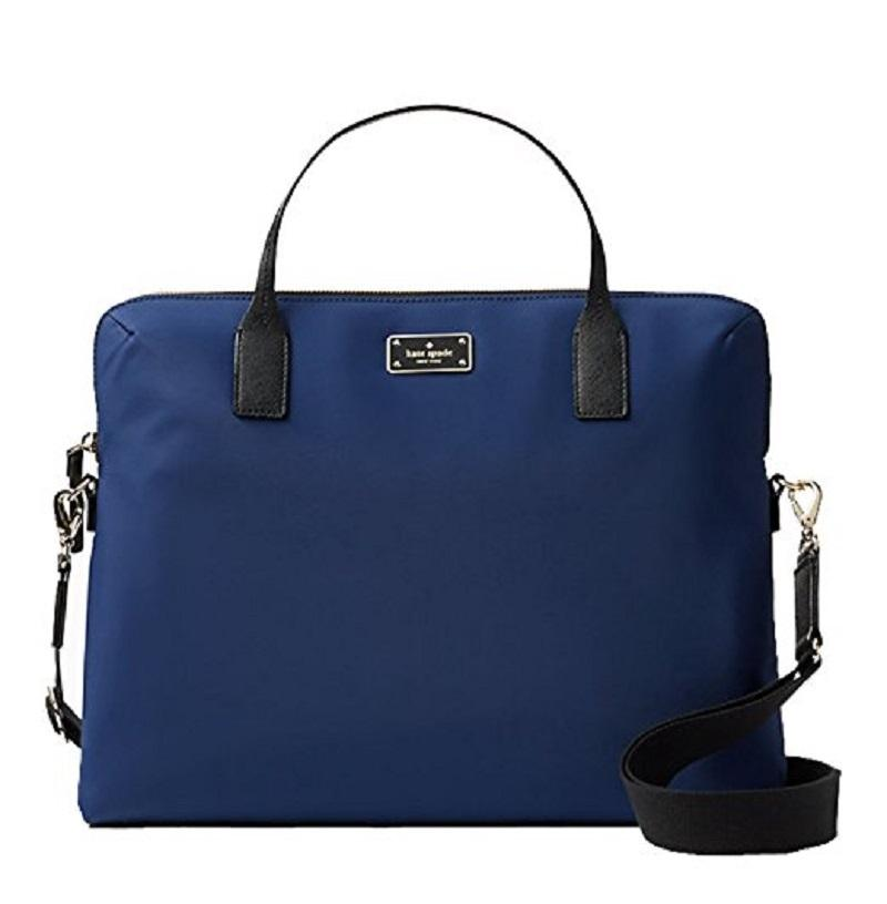 Kate Spade Blake Avenue Daveney Computer Navy Blue Nylon Laptop Bag