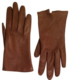 Kate Spade Brown Leather Gloves