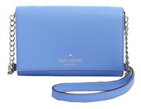 Kate Spade Cami Leather Blue Gold Cross Body Bag