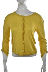 Kate Spade Ny Womens Cardigan Solid Silk Blend Sweater