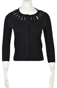 Kate Spade Womens Cardigan Knit 34 Sleeve Shirt Sweater
